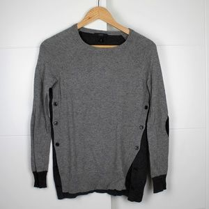 Gray J Crew XXS Sweater with side button details